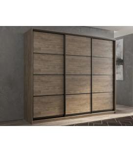 3-дверный шкаф купе Кааппи-4 ✅ Дуб Харбор эспрессо