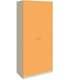 шкаф 60 Астра дуб молочный / оранжевый