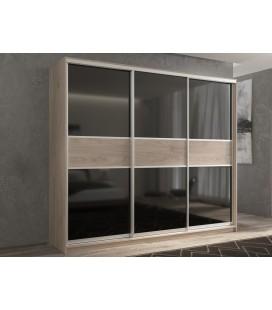 3-дверный шкаф купе Кааппи-12 ✅ Дуб Кастелло серый
