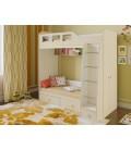 двухъярусная кровать Астра-3 дуб молочный / дуб молочный