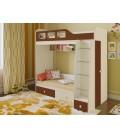 двухъярусная кровать Астра-3 дуб молочный / орех