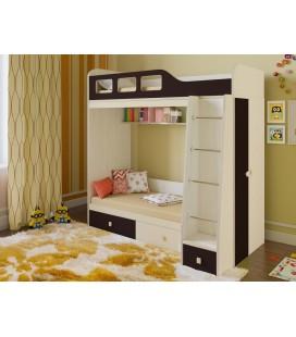 двухъярусная кровать Астра-3 дуб молочный / венге
