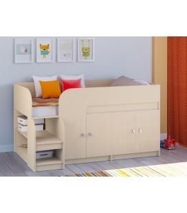 кровать чердак Астра-9-V-2 дуб молочный / дуб молочный