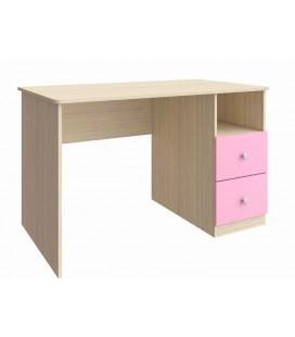 стол Астра дуб молочный / розовый