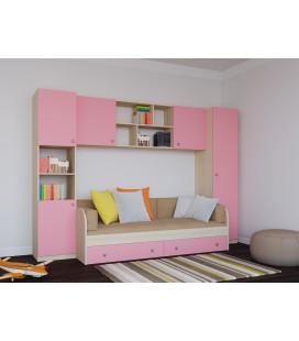Астра детская комната №2 дуб молочный / розовый