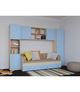 Астра детская комната №2 дуб молочный / голубой