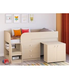кровать чердак Астра-9-V-7 дуб молочный/дуб молочный
