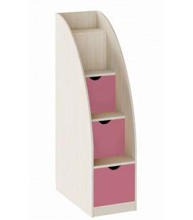 лестница комод Астра дуб молочный / розовый