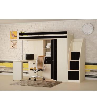 кровать чердак М-85 с лестницей комод РВ-мебель