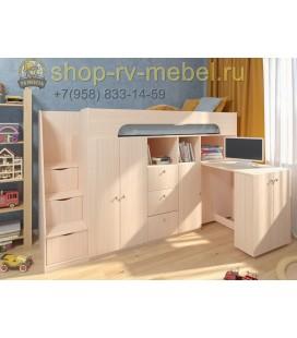 кровать чердак Астра-11 цвет Дуб молочный