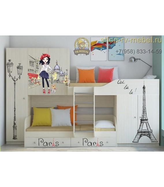 двухъярусная кровать Лео Париж