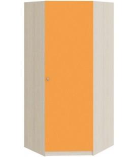 шкаф угловой Астра дуб молочный / оранжевый