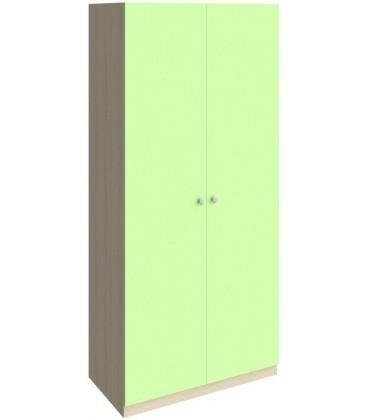 шкаф 45 Астра дуб молочный / салатовый