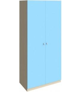 шкаф 45 Астра дуб молочный / голубой